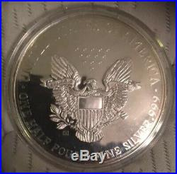 1995 Giant Walking Liberty One Half Pound 8 Oz. 999 Silver Round! Any Offers