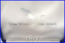 1995 One Pound Pure. 999 Silver Eagle In Clam Shell Case Washington Mint