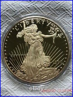 1996 Giant Liberty-eagle One Half Pound 8 Troy Oz 999 Silver 24k T. E. G. P. Round