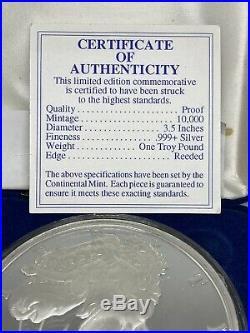 1996 One Pound Silver Eagle Limited Edition Commemorative. 999 Fine Silver