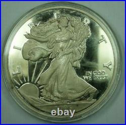 1996 Proof One Half Pound (8oz). 999 Fine Silver Silver Eagle Design