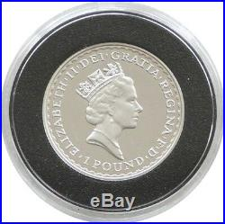 1997 British Royal Mint Britannia Chariot £1 One Pound Silver Proof 1/2oz Coin