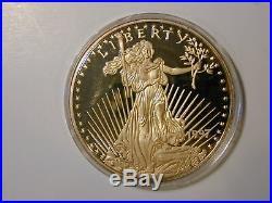 1997 Giant Liberty-eagle One Half Pound 8 Troy Oz 999 Silver 24k T. E. G. P. Round