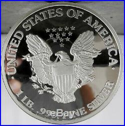 1997 ONE Pound. 999 Fine Silver 16 ounce COIN Walking Liberty PROOF Low Mintage