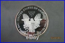 1997 One Half Pound Fine Silver. 999 Giant Silver Eagle Coin