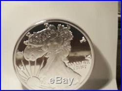 1997 United States Liberty Eagle one Troy Pound Fine Silver Proof big coin