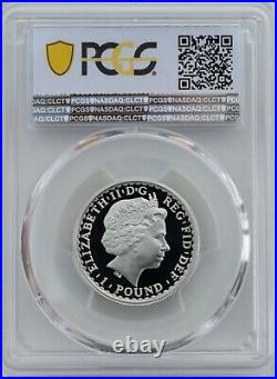 1998 Britannia Silver Proof £1 One Pound PCGS PR70 Deep Cameo 1/2oz