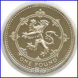 1999 Royal Mint Scottish Rampant Lion £1 One Pound Proof Coin