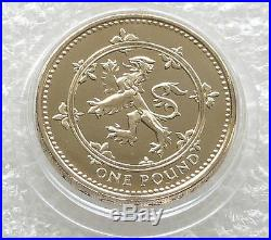 1999 Scottish Rampant Lion and 1998 Royal Coat Of Arms £1 One Pound Coin Unc