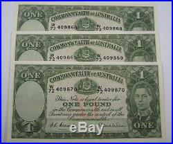 1st Prefix TRIO 1952 George VI One Pound in uncirculated condition. Investment