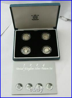 2 sets 8 coins UK PATTERN COMPLETE COLLECTION SILVER COINS ONE POUND £1 BUNC