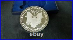 2000 GIANT LIBERTY-EAGLE ONE HALF TROY POUND. 999 PURE SILVER COIN 186.2grams