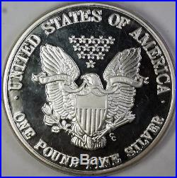 2000 Giant American Eagle Colorized Fine Silver Proof Medal One Pound in Case