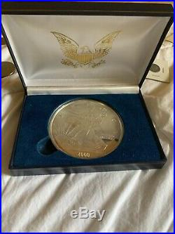 2000 Liberty Eagle One Half Pound. 999 Fine Silver Coin With Case