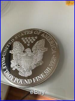 2000 Walking Liberty Eagle One Half Pound 6 Oz troy 999 Fine Silver Round Coin