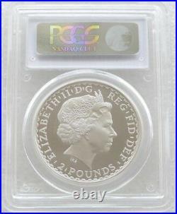 2001 Britannia Una and the Lion £2 Two Pound Silver Proof 1oz Coin PCGS PR69 DC
