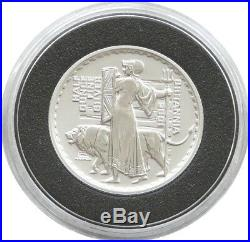 2001 British Royal Mint Britannia £1 One Pound Silver Proof 1/2oz Coin