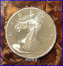 2001 Liberty American Eagle One Troy Pound. 999 Silver Round, Uncirculated