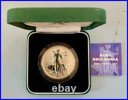2001 Royal Mint Britannia £2 Two Pound Silver Proof 1oz B/UNC SN9623 REDUCED