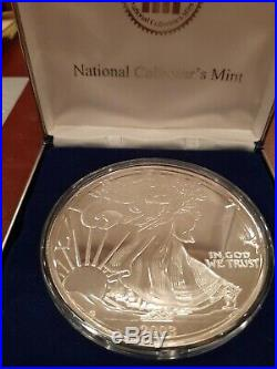 2003 Giant Silver Walking Liberty Proof One Half Pound 8 Oz. 999 Silver Round
