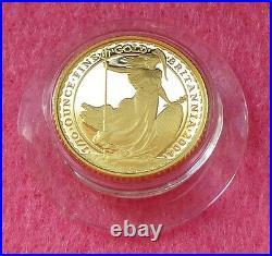 2004 Gold Britannia £10 Ten Pound 1/10th Proof Coin Box And Coa