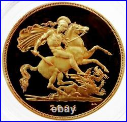 2004 Gold Great Britain 5 Pounds Sovereign Pcgs Proof 69 Deep Cameo 1,000 Minted