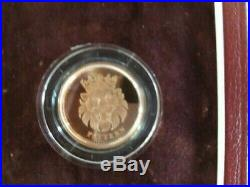 2004 Gold Proof £1 One Pound Pattern 4 coinSet Heraldic Beasts Boxed with CoA