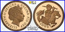 2005 £2 Two Pound Gold Proof Double Sovereign Coin PCGS PR69 Deep Cameo