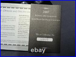2007 Britannia 20th Anniversary Silver Proof 6 Coin One Pound Collection Boxed