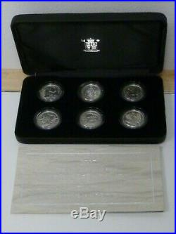 2007 Britannia 20th Anniversary Silver Proof 6-Coin One Pound Collection Boxed