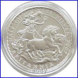 2007 British Royal Mint Britannia £1 One Pound Silver Matt Proof Coin 1997