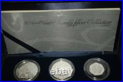 2007 silver proof six coin one pound britannia collection 20th anniversary set