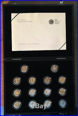 2008 Royal Mint 25th Anniversary Gold and Silver Proof One Pound £1 Collection