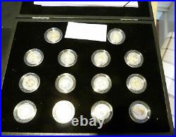 2008 Royal Mint 25th Anniversary Gold and Silver Proof One Pound Collection 19.6