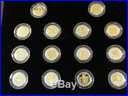 2008 Royal Mint Silver Proof Collection 25th Anniversary One Pound Coin £1 Set