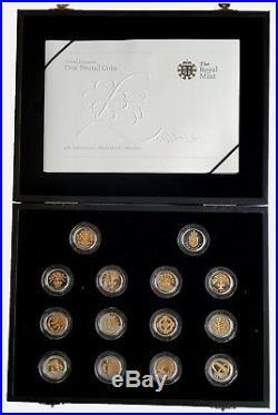 2008 United Kingdom 25th Anniversary Silver Proof One Pound Set