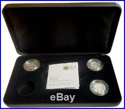 2010 2011 Uk Cities 3 Coin Silver Proof Piedfort One Pound Set £1 Boxed