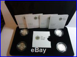 2010 2011 silver proof Capital Cities £1 One Pound set cased + COA FREE UK pp