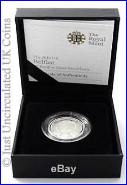 2010 Cities of UK Belfast Piedfort £1 One Pound Silver Proof Coin COA