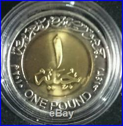 2010 EGYPT £1 One Pound Treasure of the Pharaohs Enamelled Coin Collection