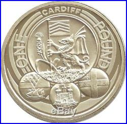 2011 Capital Cities of the UK Cardiff £1 One Pound Proof Coin