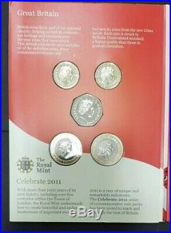 2011 Royal Mint UK Brilliant Uncirculated Coin Set Edinburgh One Pound