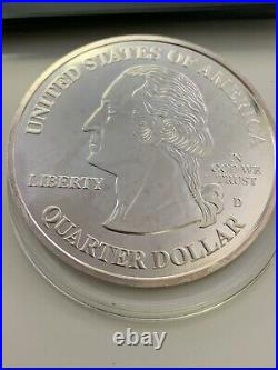 2012 Proof Liberty Mint Giant One Quarter Pound. 999 Silver Round Quarter Dollar