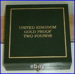 2012 UK Double Sovereign 22ct Gold Proof £2 Pound coin Royal Mint 1 Year Design