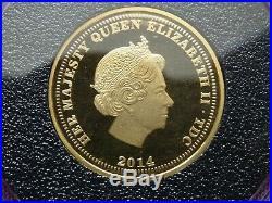 2014 22ct Solid Gold Proof St George and the Dragon Sovereign £1 One Pound Coin