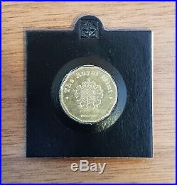 2014 Mono Metallic £1 One Pound Trial Coin. Very Rare Coin NOT FAKE