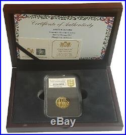 2015 Magna Carta Gold Proof One Pound Piece £1 Boxed With Certificate