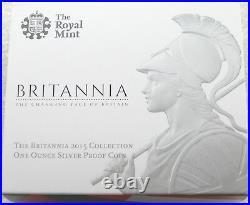 2015 Royal Mint Britannia £2 Two Pound Silver Proof 1oz Coin Box Coa