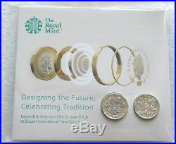 2016 2017 Farewell and Nations of the Crown Privy BU £1 One Pound 2 Coin Set