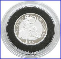 2016 British Royal Mint Britannia £1 One Pound Silver Proof Coin